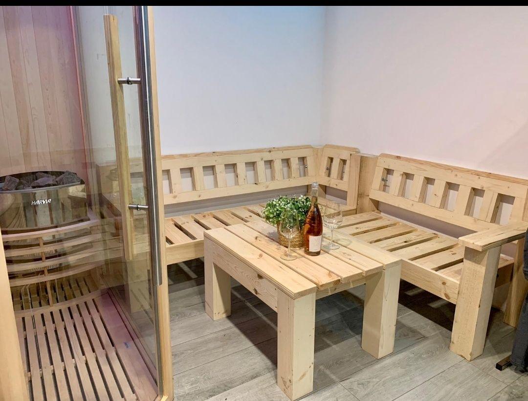 Coltar, canapele, fotolii lemn masiv la 240 lei/buc.