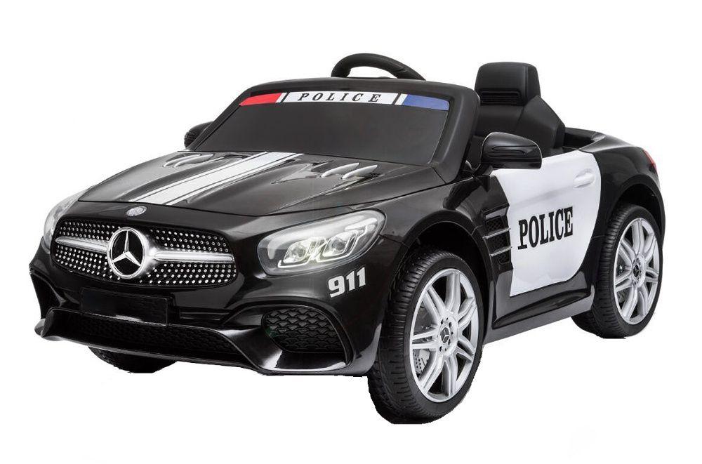 Masinuta electrica de politie Mercedes SL500 90W STANDARD #Negru