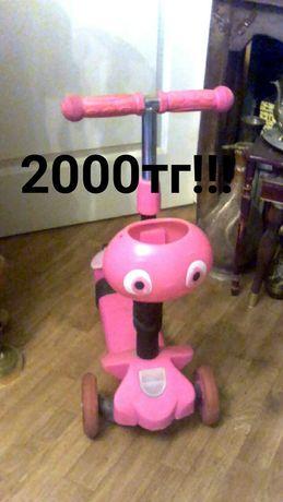 Самокат для девочки за 2000