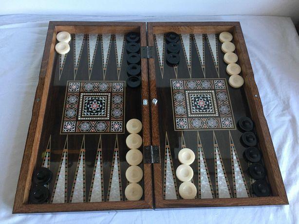 Joc Table Turcesc (joc de Table) NOU - Lux lemn lacuit. SIGILAT!