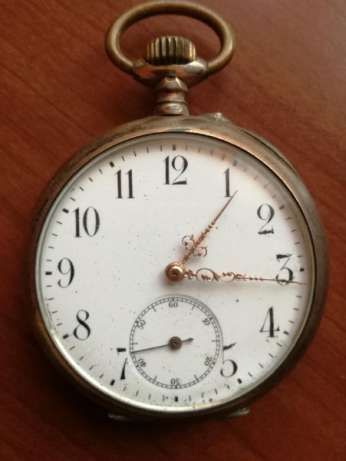 Швейцарски сребърен часовник Ancre Ligne Droit