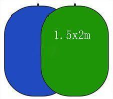 Blenda coton verde/albastru 1.5x2M Neewer 2 in 1 Photo Collapsible