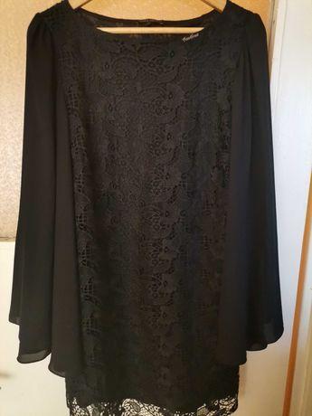 Официална дантелена рокля размер L