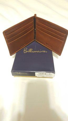portofel/portcard billionaire, piele, nou