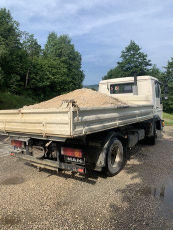 Transport 3,5 t 7,5 t  nisip,piatra,pamant,lemne agregate balastiera