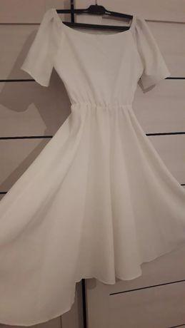 Нежное бело-молочное платье. 42-44 размеры