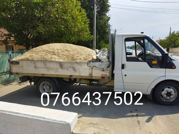 Transport nisip, balast, sort de balastiera