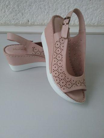 Sandale bej piele naturală Maria Conti