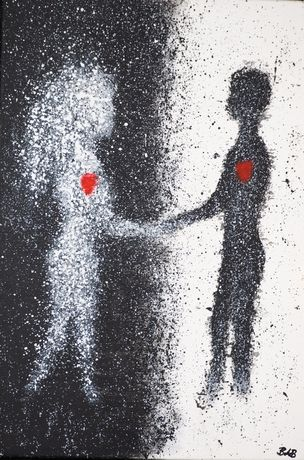 """Singularity in duality"" - pictură"