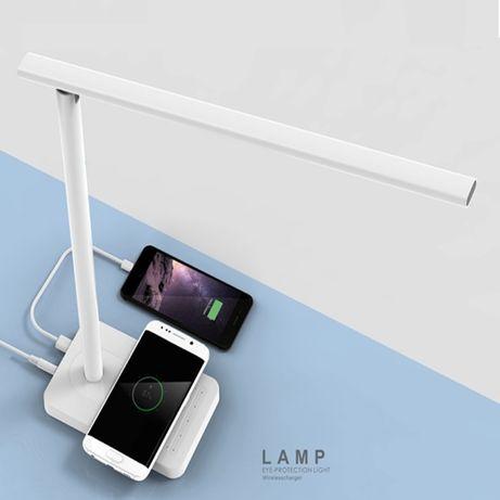 Настольная LED Беспроводное зарядное устройство беспроводный зарядка i
