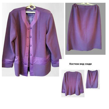 Женский костюм, пиджак и юбка, 60 размер (европ 54)