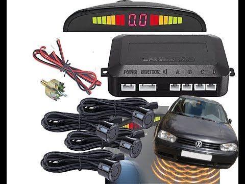 Парктроник Parking sensor комплект с четири ултразвукови черни се