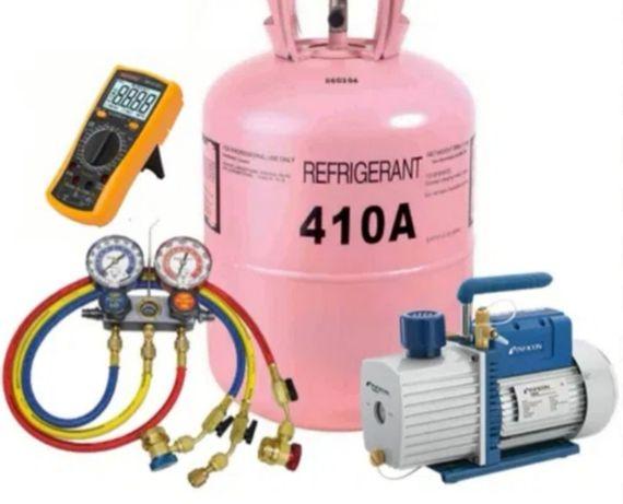 Încărcare cu freon R410A, R407C, R32, R22(422D) igienizarea  profesion
