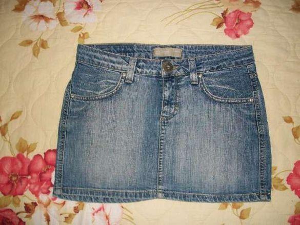 Къса дънкова пола