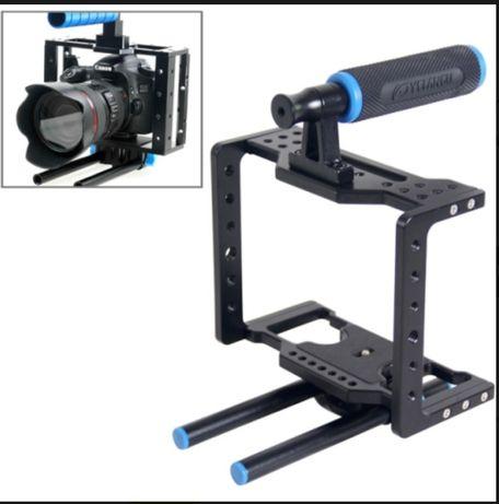 Camera Cage with Handle Grip & Rig for Canon/Nikon/BlackMagic