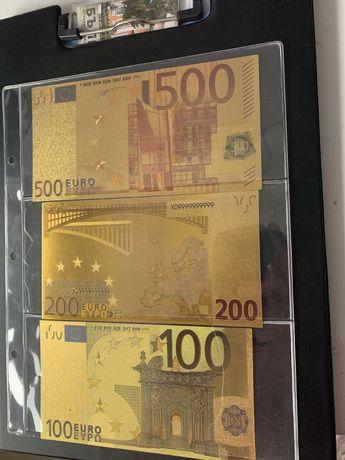 Позлатени € банкноти