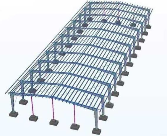 Vand hale structuri metalice