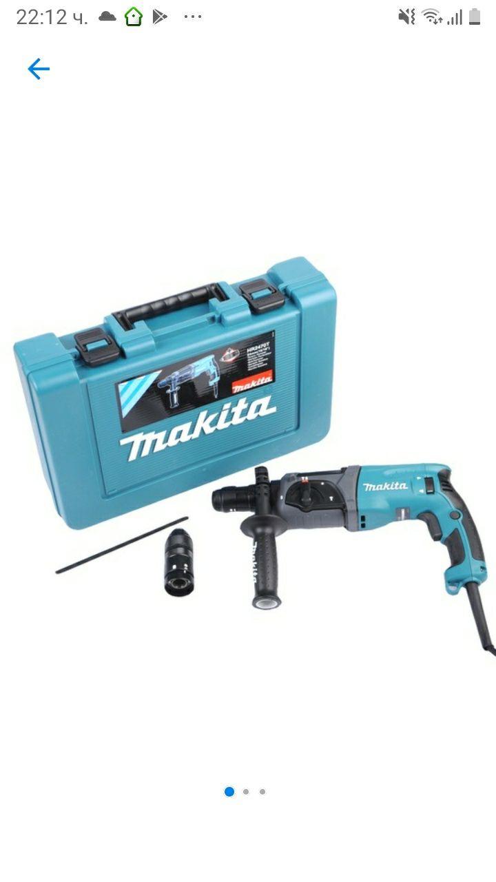 Перфоратор Makita HR2470T, 780W, 2.4J, 1100 об/мин, Патронник SDS-Plus