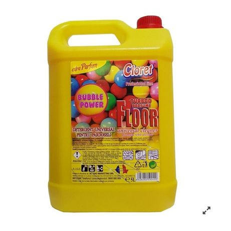 Detergent universal pardoseli profesional bubble gum - bidon 5 litri