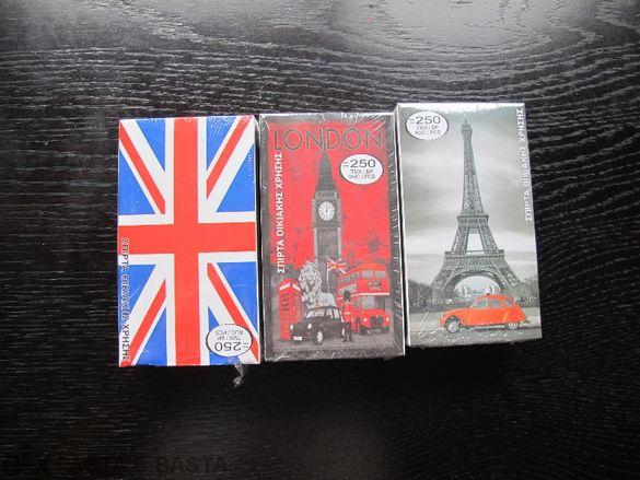 3 модела Pop Art Paris London Kibrit Kibriti Кибрит Кибрити За Пури И