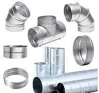 Воздуховодные трубы оцинкованные 0,5 мм диаметр 500