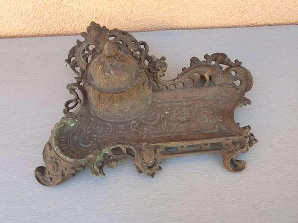 френска барокова мастилница от месинг