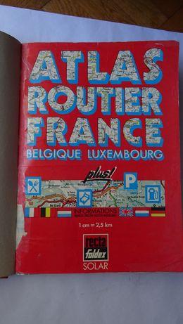 Atlas rutier Franta, Belgia, Luxemburg (format mare) scara 1:250000