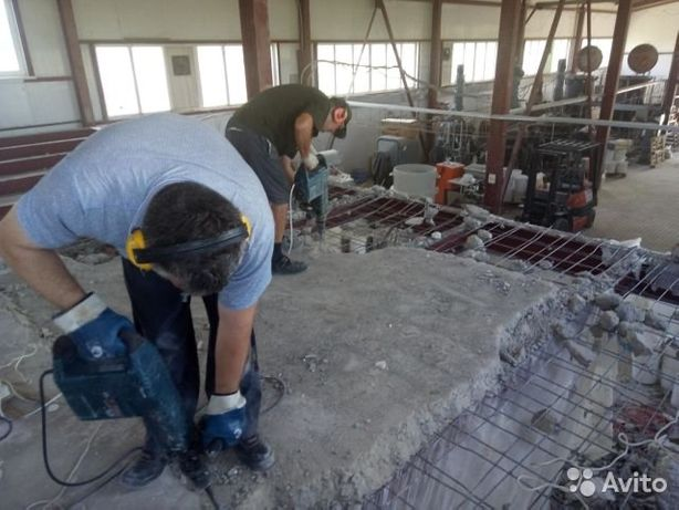 Демонтаж разрушение бетон, Перфоратор Отбойник Алмазная резка проем