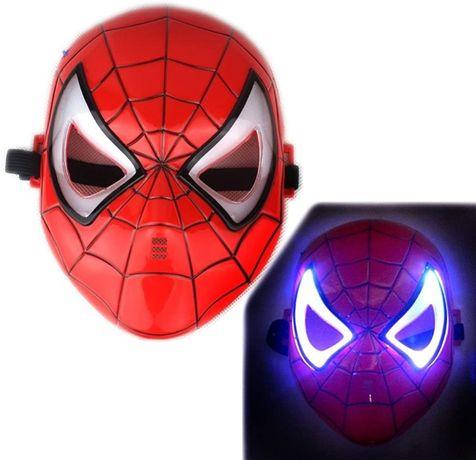 Светеща Маска Спайдърмен, маски на спайдърмен, mask spiderman