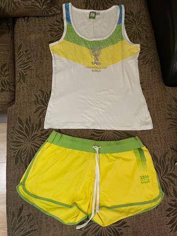 спортно екипче Бразил жълто - зелено топ сет + подарък