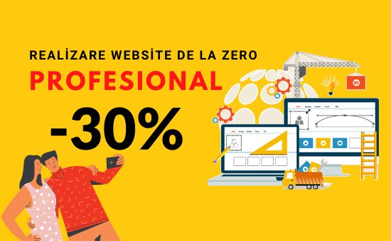 Realizare website profesional + Web interface + SEO si Hosting