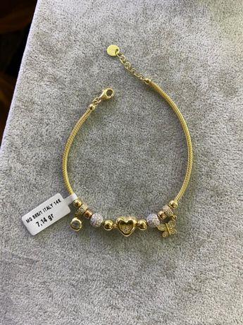 Золотые браслеты от Pandora