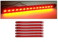 5 броя габарити 15 LED 12/24V червени 15 диода супер силни