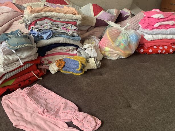 Пакет вещей, игрушек для девочки