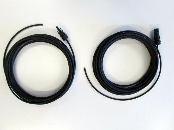 Соларен кабел 4мм2 и 6мм2 с конектор MC4 за соларен контролер