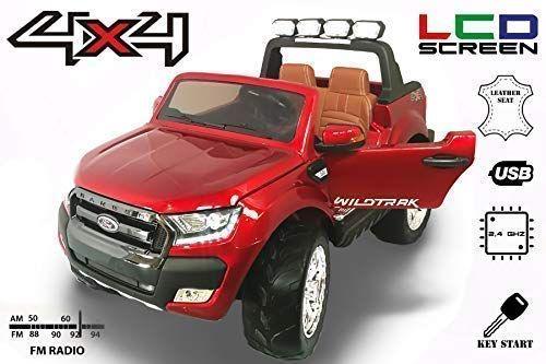 Masinuta electrica pentru 2 copii Ford Ranger 4x4 cu LCD #RED Matt