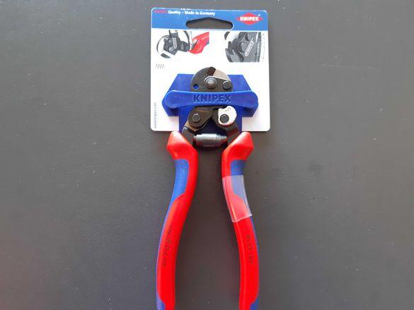Knipex 9562160SB - Клещи резачки за стоманено въже Knipex изолирани