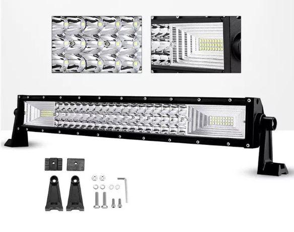 55 СМ 324W Мощен 7D 7Д Led Bar Лед Диоден Бар Фар Прожектор 12V 24V