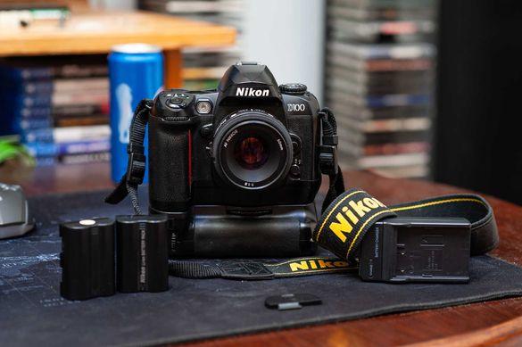 Nikon D100 Тяло + Батериен грип и др