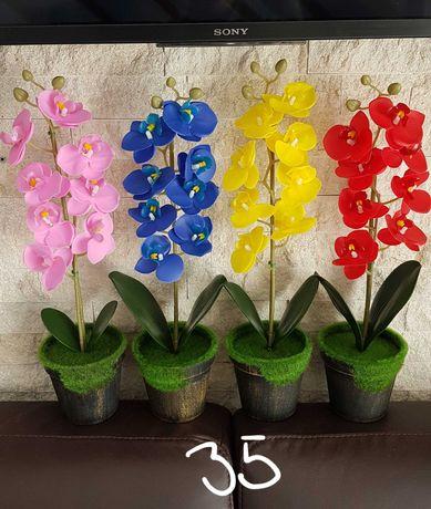 Orhidee decorative din silicon