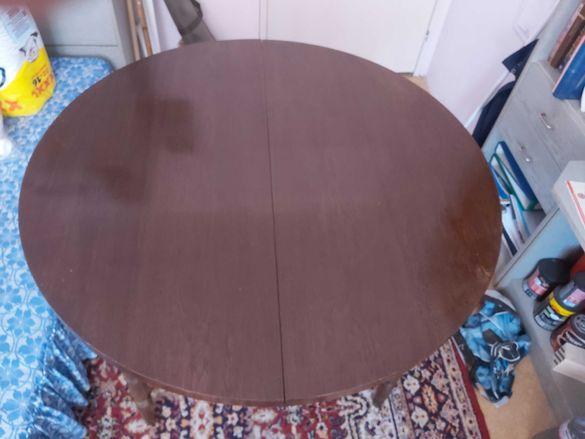 Разтегателна кръгла маса с диаметър  Ф110 см