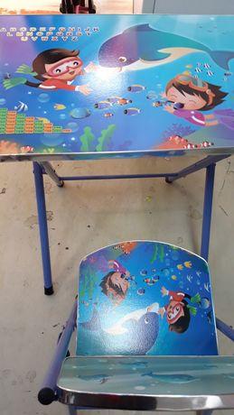 Set masa scaun pentru copii mici. Roz si albastru. Nou!