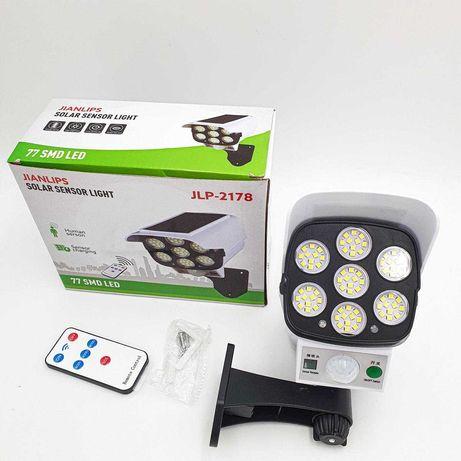 Мощна LED PIR соларна улична лампа имитираща камера