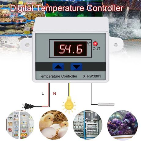 Терморегулятор, термостат XH-W3001, инкубатор, брудер, аквариум