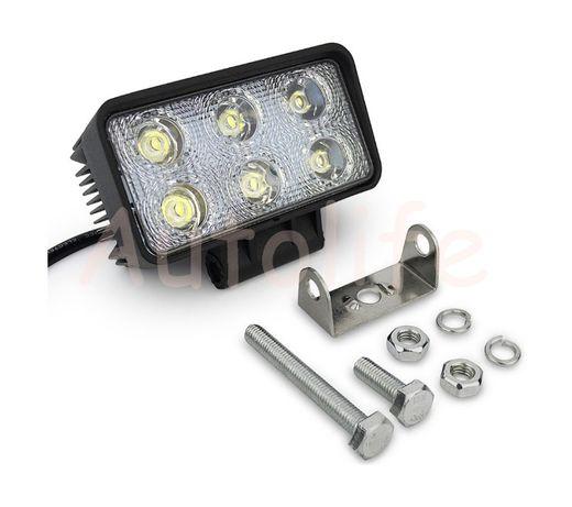 Халоген диоден 18W LED Работна Лампа Светлина на 12V и 24V 1бр