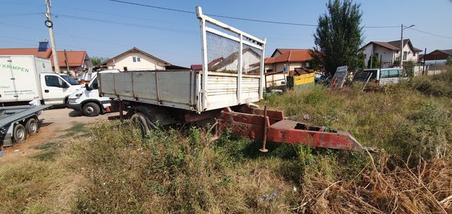 Remorcă tractor basculabila 3 parti
