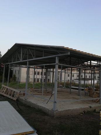 Case pe structura metalica cu panel