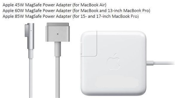 Ново зарядно Apple Macbook Pro Air 45w 60w 85w Magsafe 1 2 / Кабел