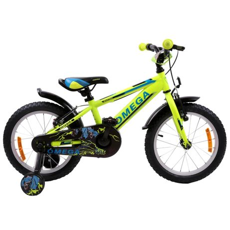 Bicicleta Omega Master 16″, pentru Copii, Cadru Otel, Culoare Yellow