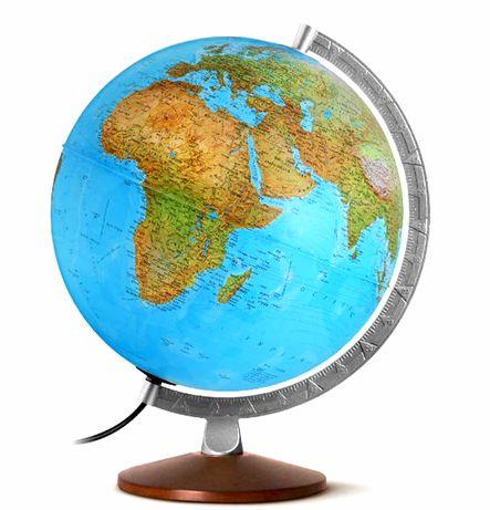 LAMPA DECORATIVA Glob Pământesc cu diametrul 25 cm - NOU ( ITALIA )